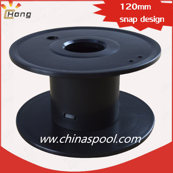 120mm plastic spool for wire shipping snap design