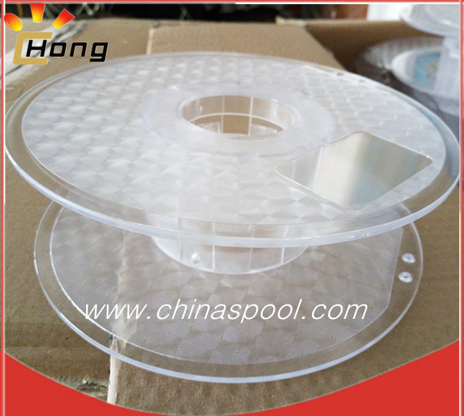 clear 200mm plastic spool for 3d printer filament
