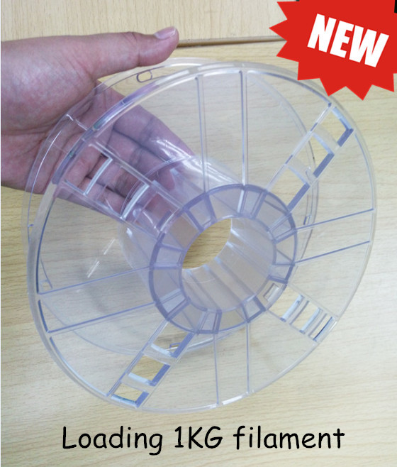 transparent plastic spool for 3d filament