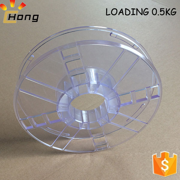 loading 0.5kg clear bobbin hollow design